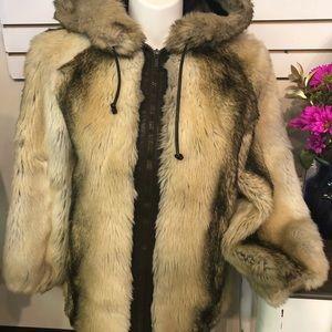 Vintage Sportowne Rabbit Fur Coat Size 12